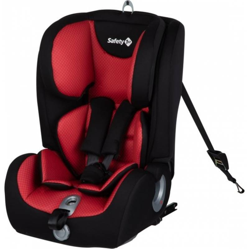 Safety 1st Ever Fix Child Car Seat, Group 1/2/3 Isofix, 15 Months to 10/12 Years, Pixel Red, 9.8 kg